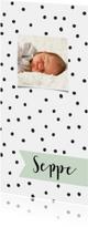 Geboortekaartjes - Geboortekaartje lang