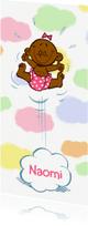 Geboortekaartjes - Geboortekaartje meisje 2 - in de wolken - A