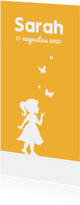 Geboortekaartjes - Geboortekaartje meisje simpel met silhouet