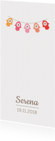 Geboortekaartjes - Geboortekaartje met Hamsa vlaggenlijn