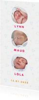 Geboortekaartjes - Geboortekaartje met hip Memphis patroon en foto's kleur