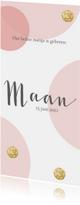 Geboortekaartjes - Geboortekaartje met stippen