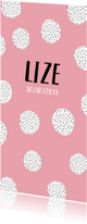 Geboortekaartjes - Geboortekaartje met zwart witte confetti meisje