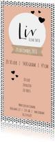 Geboortekaartjes - Geboortekaartje Stoer meisje