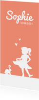 Geboortekaartjes - Geboortekaartje tijdloos en simpel met silhouet