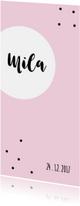 Geboortekaartjes - Grafisch geboortekaartje in een cirkelthema