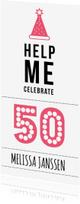 Uitnodigingen - Help me celebrate 50 year!