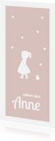 Geboortekaartjes - hip silhouet kaartje