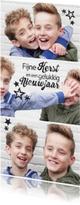 Kerstkaarten - Hippe kerstkaart met foto en sterren