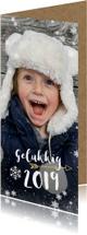 Nieuwjaarskaarten - Hippe langwerpige nieuwjaarskaart met grote foto en 2019