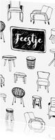 Uitnodigingen - Housewarming uitnodiging hippe meubels