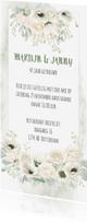 Jubileumkaarten - Huwelijksjubileum witte rozen-anemonen