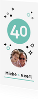 Jubileumkaarten - Jubileum 40 jaar getrouwd geometrisch