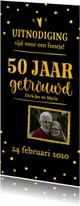 Jubileumkaarten - Jubileum - 50 jaar getrouwd langwerpig