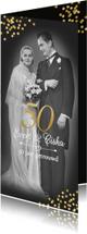Jubileumkaarten - Jubileum 50 jaar met oude en nieuwe foto