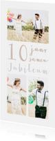 Jubileumkaarten - Jubileum collage 10  jaar 3 foto's