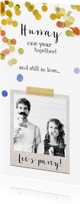 Jubileumkaarten - jubileum kaart hip foto polaroid confetti