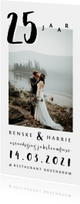 Jubileumkaarten - Jubileum uitnodiging huwelijk stijlvol met foto