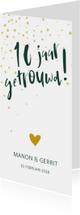 Jubileumkaarten - Jubileumkaart '10 jaar getrouwd!' met confetti