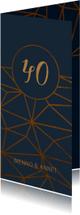 Jubileumkaarten - Jubileumkaart 40 jaar geometrisch patroon