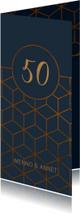 Jubileumkaarten - Jubileumkaart 50 jaar geometrisch patroon