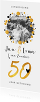 Jubileumkaarten - Jubileumkaart 50 jaar getrouwd met confetti en eigen foto