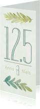 Jubileumkaarten - Jubileumkaart botanisch 12,5 jaar