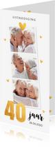 Jubileumkaarten - Jubileumkaart fotocollage hartjes goud