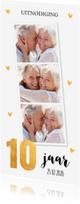 Jubileumkaarten - Jubileumkaart huwelijk 10 jaar goud fotocollage