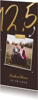 Jubileumkaarten -  Jubileumkaart langwerpig met gouden 12,5 en foto