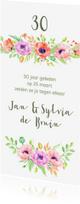 Jubileumkaarten - Jubileumkaart met klaprozen
