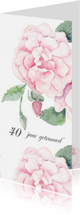 Jubileumkaarten - Jubileumkaart romantische roos