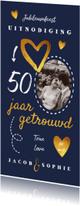 Jubileumkaarten - Jubileumkaart uitnodiging stijlvol en hip met eigen foto