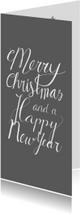Kerstkaarten - Kerst handlettering merry christmas