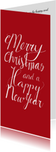 Kerstkaarten - Kerst merry christmas rood