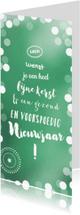 Zakelijke kerstkaarten - Kerstboom van eigen tekst en eigen logo