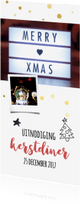 Kerstkaarten - Kerstdiner uitnodiging / ZO