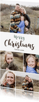 Kerstkaarten - Kerstkaart collage 5 foto's langwerpig - BK