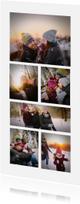 Kerstkaarten -  Kerstkaart collage 6 foto's langwerpig
