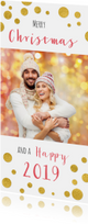 Kerstkaarten - Kerstkaart confetti foto 2019 - OT