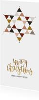 Kerstkaarten - Kerstkaart Davidster - HM
