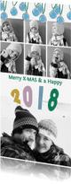 Kerstkaarten - Kerstkaart fotocollage 2018 kerstballen