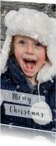 Kerstkaarten - Kerstkaart grote foto langwerpig - BK