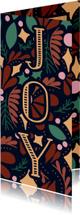Kerstkaarten - Kerstkaart 'JOY' dubbel met illustraties