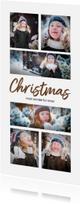 Kerstkaarten -  Kerstkaart langwerpig collage 6 foto's