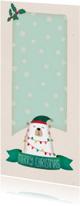 Kerstkaarten - Kerstkaart langwerpig ijsbeer - BK