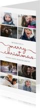 Kerstkaarten - Kerstkaart langwerpig met sierlijke letters en foto's dubbel