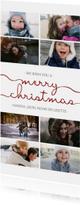 Kerstkaarten - Kerstkaart langwerpig met sierlijke letters en foto's
