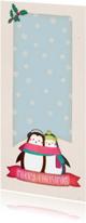 Kerstkaarten - Kerstkaart langwerpig pinguïns - BK