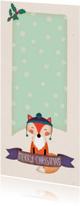 Kerstkaarten - Kerstkaart langwerpig vos - BK